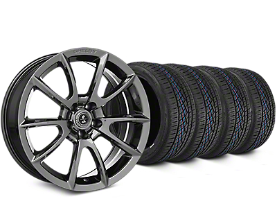 Staggered Shelby Super Snake Style Chrome Wheel & Continental Extreme Contact DWS06 Tire Kit - 19x8.5/10 (15-18 All)