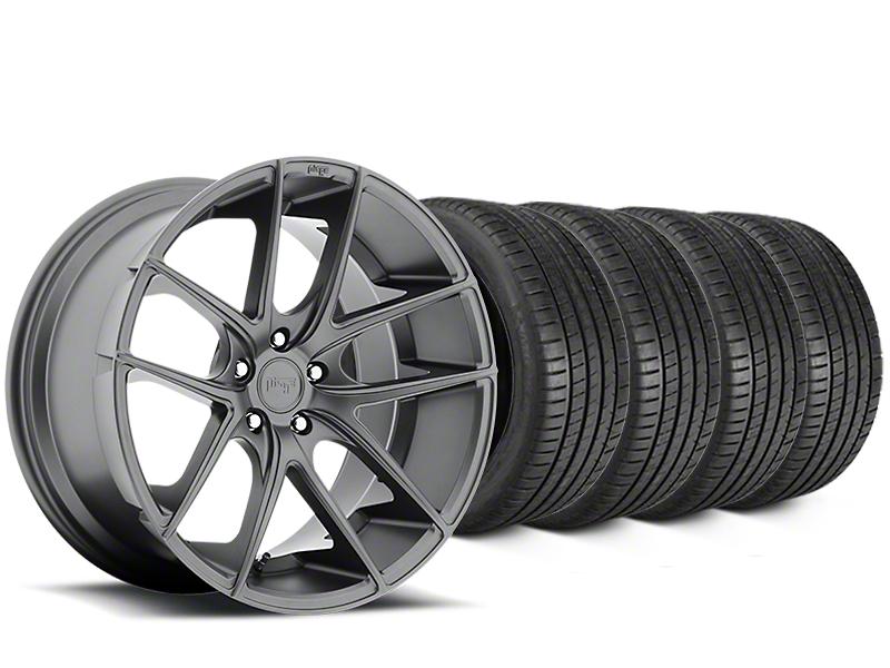 Staggered Niche Targa Matte Anthracite Wheel & Michelin Pilot Super Sport Tire Kit - 20 in. - 2 Rear Options (05-14 All)