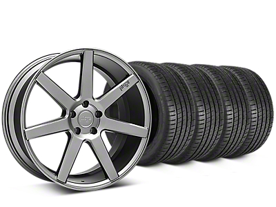 Staggered Niche Verona Anthracite Wheel & Michelin Pilot Super Sport Tire Kit - 20 in. - 2 Rear Options (05-14 All)