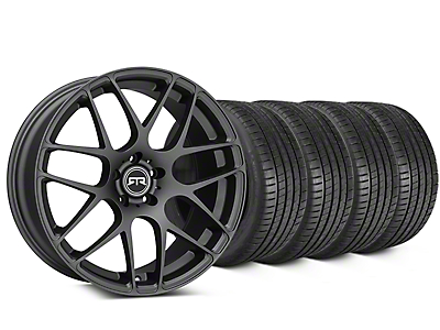 Staggered RTR Charcoal Wheel & Michelin Pilot Super Sport Tire Kit - 20 in. - 2 Rear Options (15-19 All)