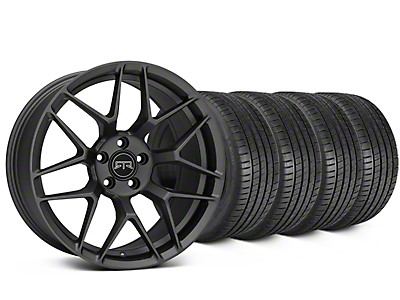 Staggered RTR Tech 7 Charcoal Wheel & Michelin Pilot Super Sport Tire Kit - 20 in. - 2 Rear Options (15-18 All)