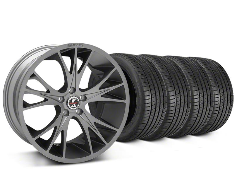 Staggered Shelby CS1 Gunmetal Wheel & Michelin Pilot Super Sport Tire Kit - 20 in. - 2 Rear Options (15-17 All)