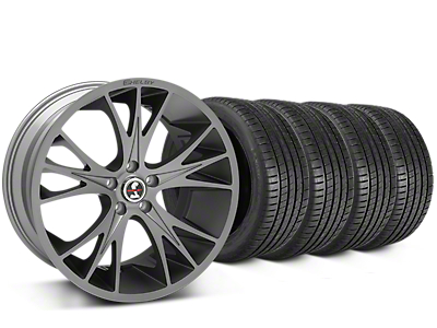 Staggered Shelby CS1 Gunmetal Wheel & Michelin Pilot Super Sport Tire Kit - 20 in. - 2 Rear Options (15-17 All)