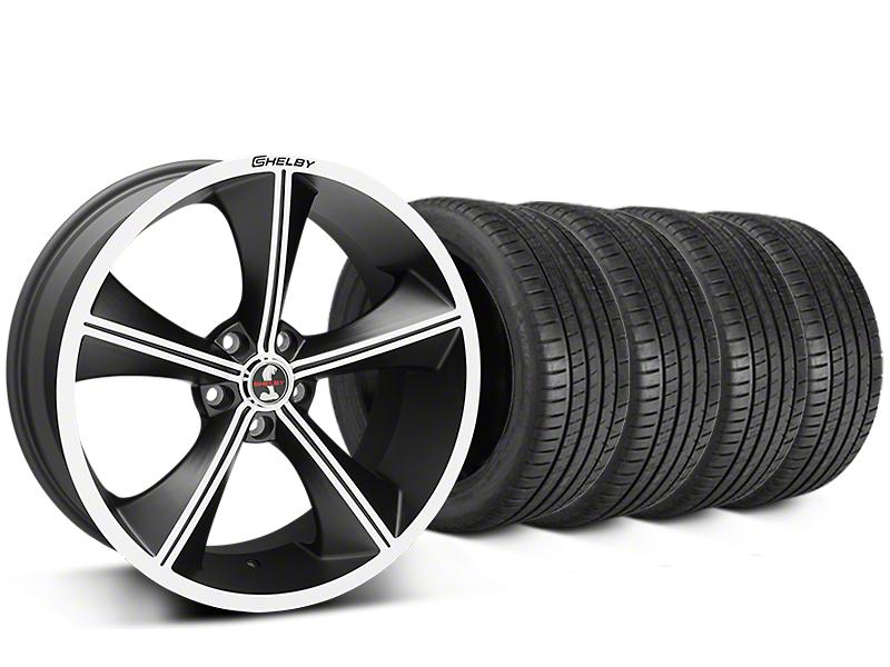 Staggered Shelby CS70 Matte Black Wheel & Michelin Pilot Super Sport Tire Kit - 20 in. - 2 Rear Options (15-17 All)