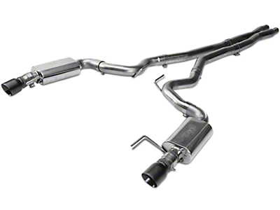 Kooks Cat-Back Exhaust w/ X-Pipe - Black Tips (15-17 GT)