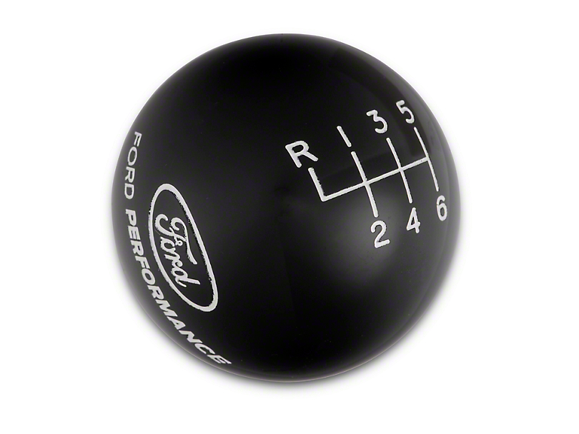 Ford Performance 6-Speed Shift Knob w/ Ford Performance Logo - Black (15-17 GT, EcoBoost, V6)