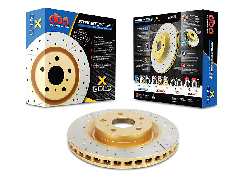 DBA Street Series Cross Drilled & Slotted Rotor - Rear (15-18 GT, EcoBoost w/ Performance Pack)