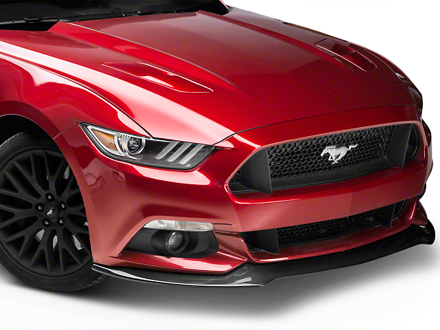 Anderson Composites Type-AC Front Chin Splitter - Carbon Fiber - w/o Performance Package (15-17 GT, EcoBoost, V6)