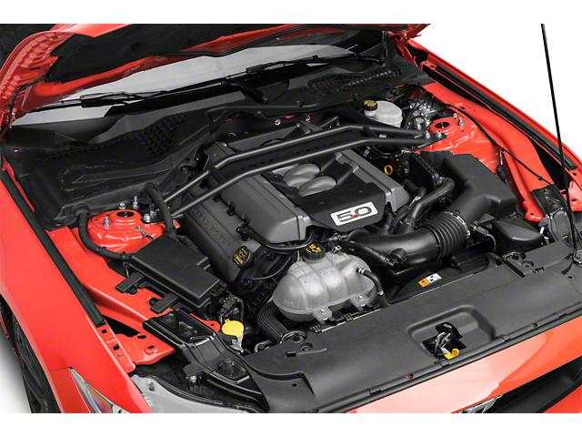 SR Performance Black Strut Tower Brace w/ Mustang Logo (15-17 GT, EcoBoost)