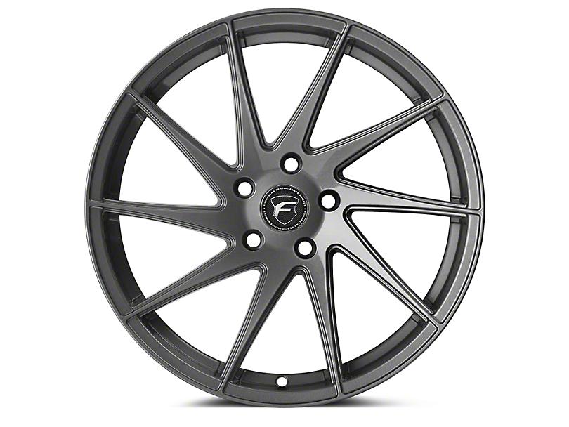 Forgestar F10D Gunmetal Direction Wheel - Driver Side - 19x10 (15-19 GT, EcoBoost, V6)