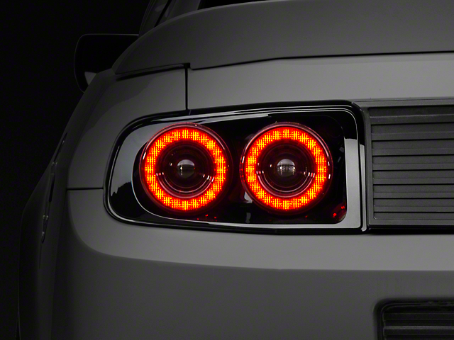 Raxiom Mustang Dual Halo Led Tail Lights 397460 13 14 All