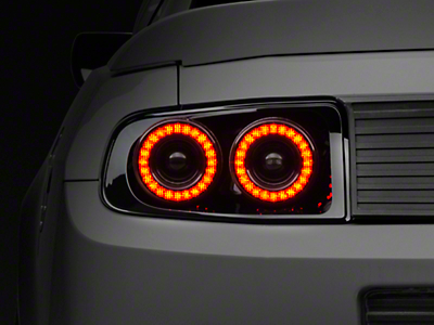 Raxiom Smoked Dual Halo LED Tail Lights (13-14 All)