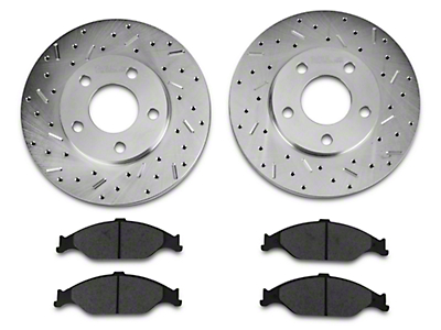 Xtreme Stop Precision Drilled & Slotted Rotor w/ Ceramic Brake Pad Kit - Front (99-04 GT, V6)