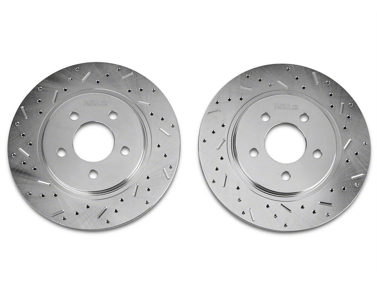 Fits: 2010 10 Ford Escape w/Rear Disc Brakes Premium Slotted Drilled Rotors + Metallic Pads Max Brakes Rear Performance Brake Kit TA073732