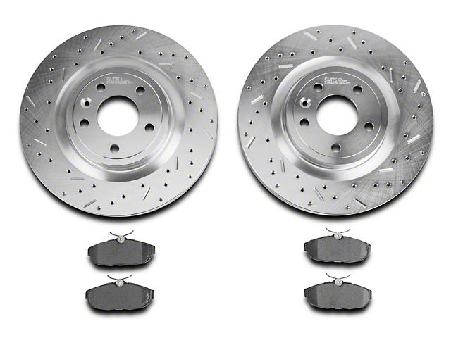 Xtreme Stop Precision Drilled & Slotted Rotor w/ Ceramic Brake Pad Kit - Rear (05-10 All)