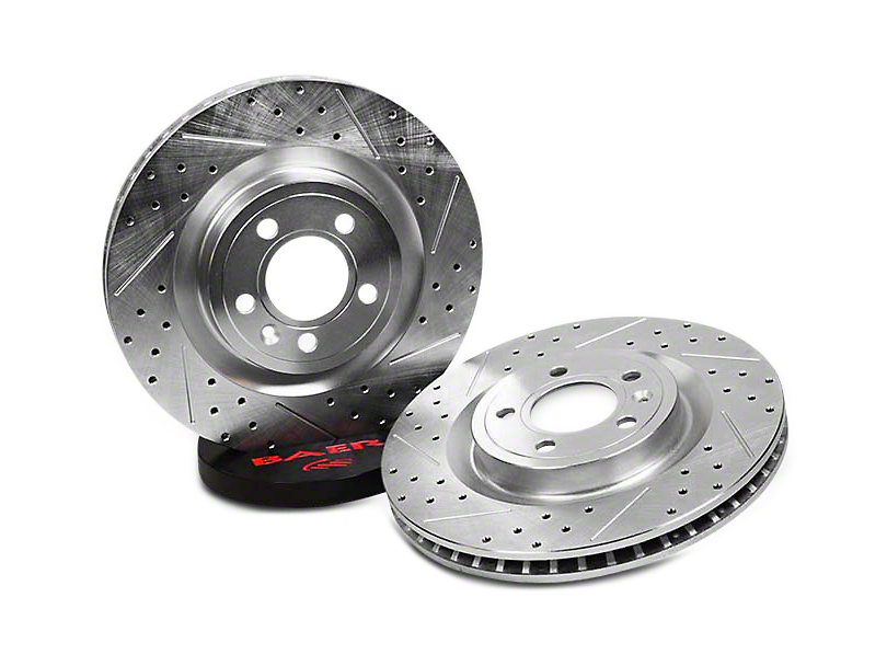 Baer Sport Drilled & Slotted Rotors - Front Pair (94-04 GT, V6)