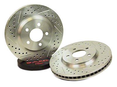 Baer Sport Drilled & Slotted Rotors - Rear Pair (94-04 GT, V6)