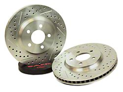 Baer Sport Drilled and Slotted Rotors; Rear Pair (94-04 GT, V6)