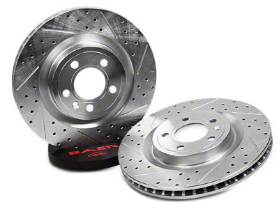 Baer Sport Drilled & Slotted Rotors - Rear Pair (94-04 Cobra, Bullitt, Mach 1)