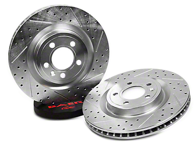 Baer Sport Drilled & Slotted Rotors - Front Pair (94-04 Bullitt, Mach 1, Cobra)