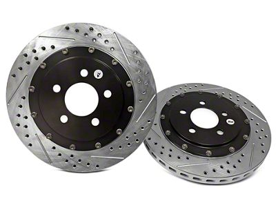 Add Baer EradiSpeed+ 2-Piece Drilled & Slotted Rotors - Front Pair (94-04 Bullitt, Mach 1, Cobra)