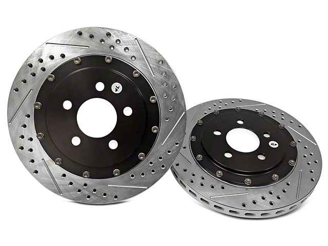 Baer EradiSpeed+ 2-Piece Drilled & Slotted Rotors - Front Pair (94-04 Bullitt, Mach 1, Cobra)