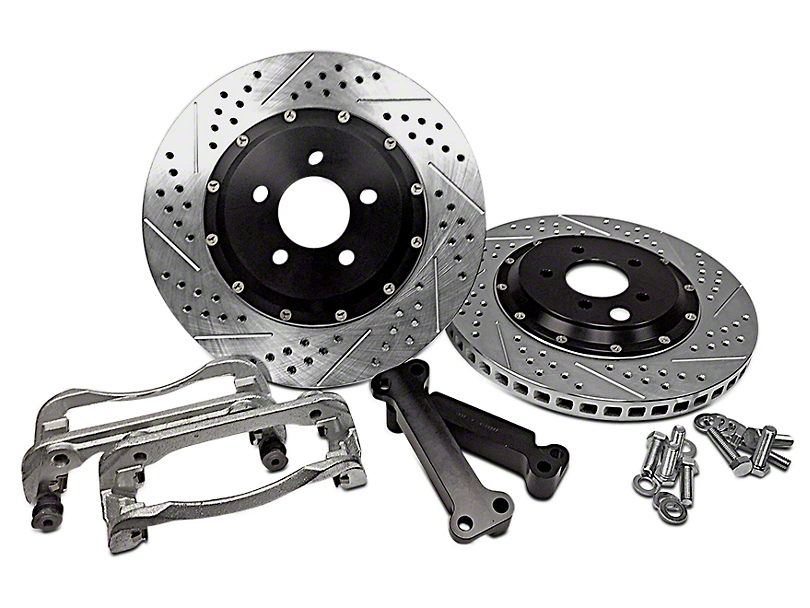 Baer EradiSpeed+1 2-Piece Drilled & Slotted Rotors - Front Pair (05-10 GT; 11-14 V6)