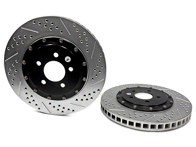 Baer EradiSpeed+ 2-Piece Drilled & Slotted Rotors - Front Pair (11-14 GT Brembo; 12-13 BOSS 302; 07-12 GT500)