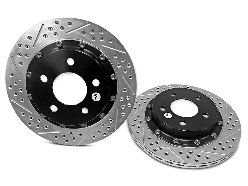 Baer EradiSpeed+ 2-Piece Drilled & Slotted Rotors - Rear Pair (94-04 Cobra, Bullitt, Mach 1)