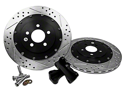 Baer EradiSpeed+1 2-Piece Drilled & Slotted Rotors - Rear Pair (05-14 All, Excluding 13-14 GT500)