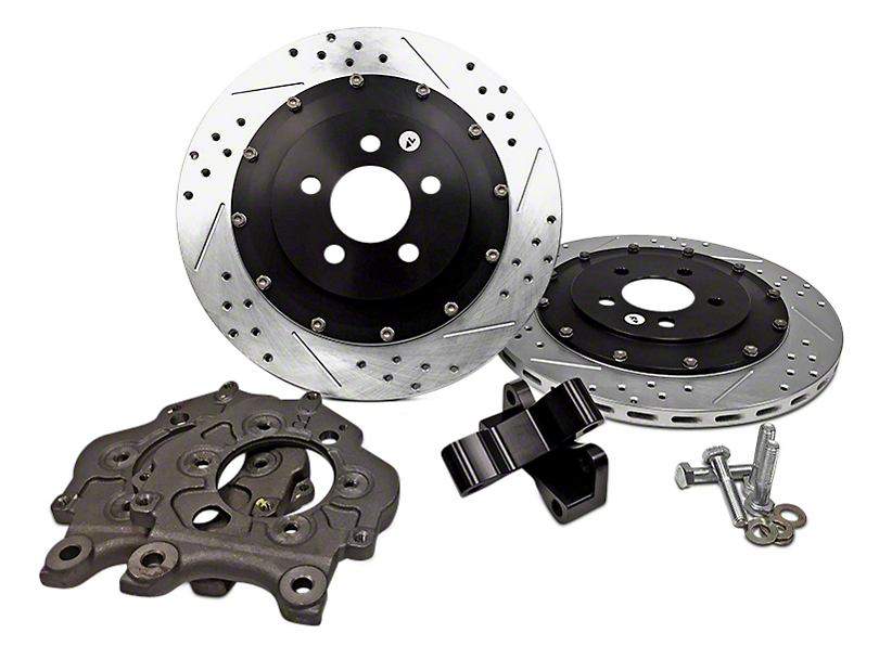 Baer EradiSpeed+1 2-Piece Drilled & Slotted Rotors - Rear Pair (13-14 GT500)