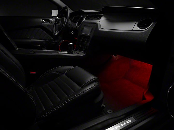 How To Install Raxiom Led Footwell Lighting Kit Red On Your Mustang Americanmuscle