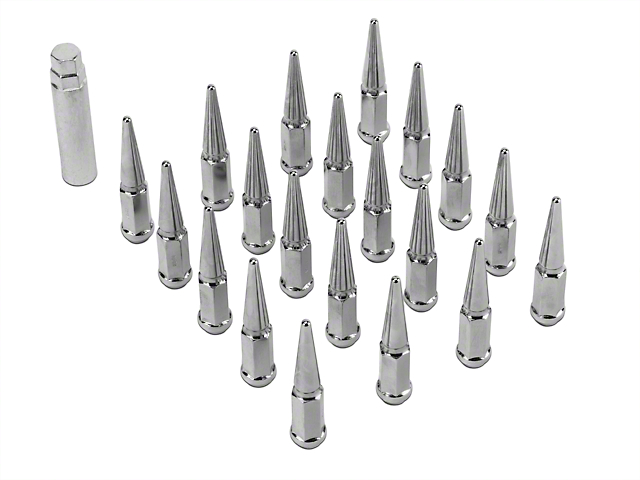 Coyote Chrome Spike Lug Nut Kit - 1/2 in. x 20 (79-14 All)