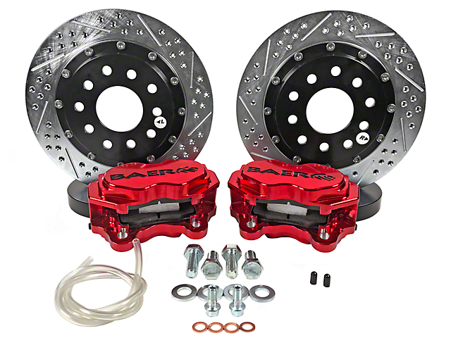 Baer SS4+ Deep Stage Rear Brake Kit - Red (15-18 All)