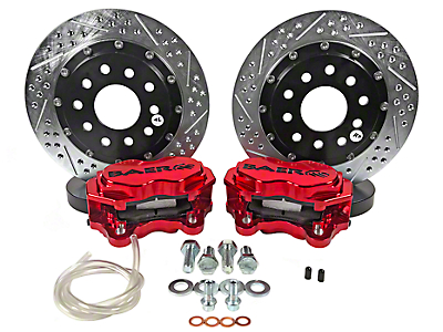 Baer SS4+ Deep Stage Rear Brake Kit - Red (15-18 GT, EcoBoost, V6)