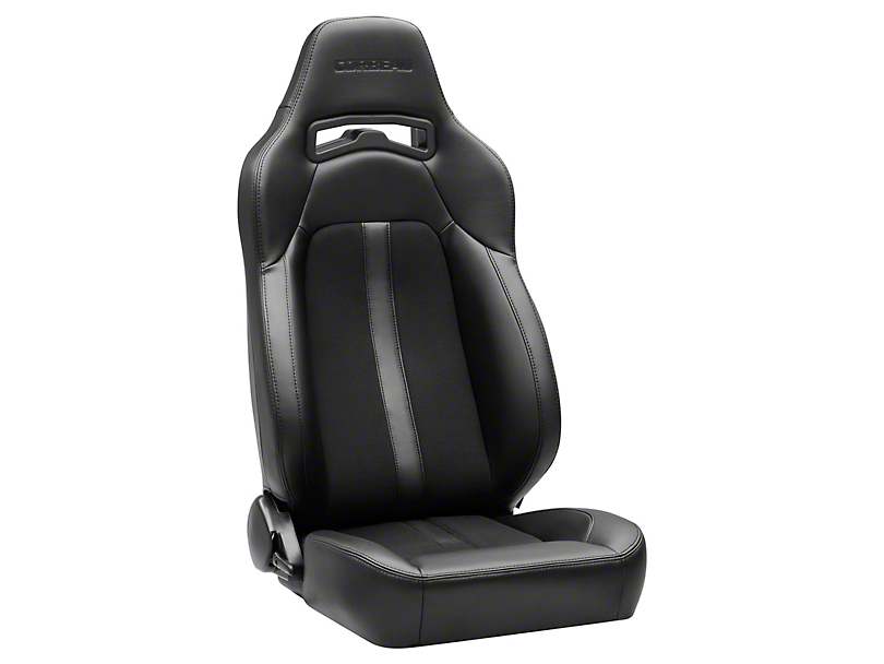 Corbeau Trailcat Seat w/ Black Stitching - Black Vinyl/Cloth - Pair (79-19 All)