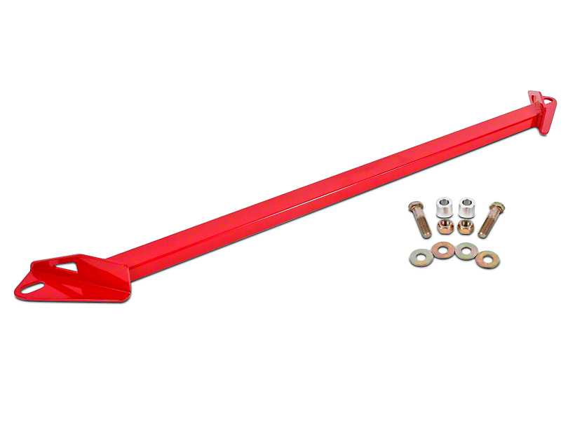 BMR 2-Point Front Subframe Chassis Brace - Red (15-18 All)