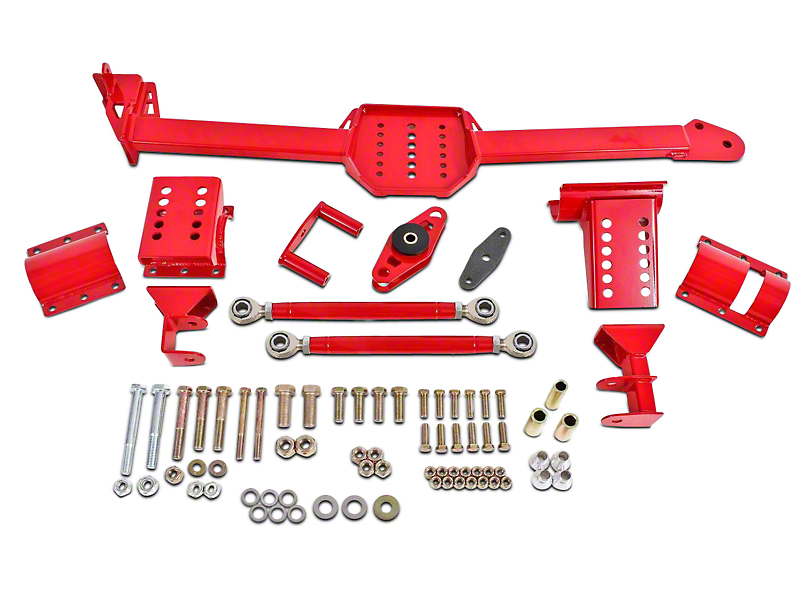 BMR Body Mounted Watts Links w/ Rod Ends - Red (05-14 Coupe)