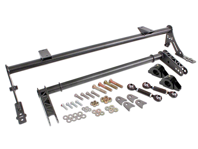 BMR Xtreme Rear Anti-Roll Bar with Delrin Bushings; Black Hammertone (05-14 All)