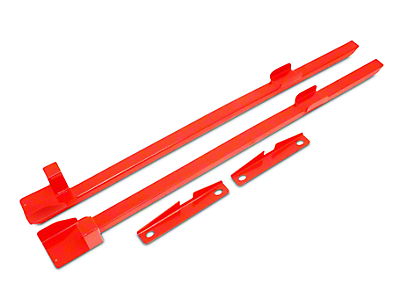 BMR Subframe Connectors - Red (79-93 Coupe, Hatchback)