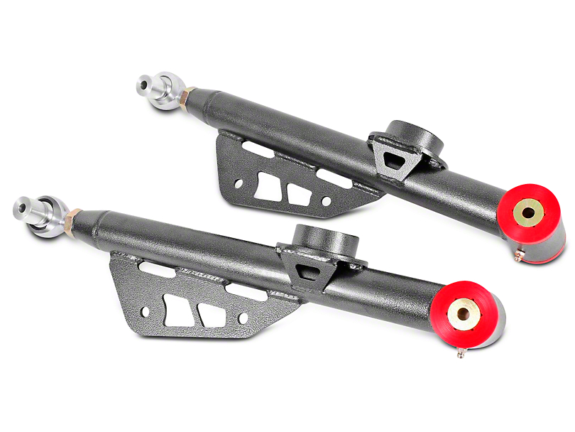 BMR Single Adjustable Rear Lower Control Arms - Poly Bushings & Rod End - Hammertone (79-98 All)