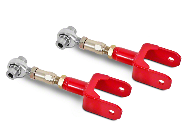 BMR On-Car Adjustable Rear Upper Control Arms - Rod Ends - Red (79-04 All, Excluding 99-04 Cobra)