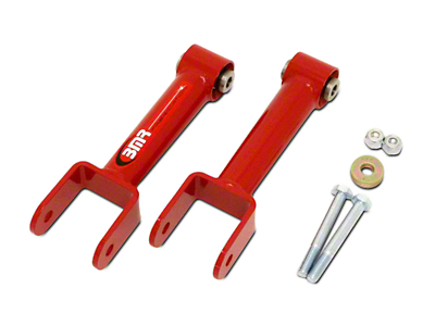 BMR Non-Adjustable Rear Upper Control Arms - Spherical Bushings - Red (79-04 All, Excluding 99-04 Cobra)