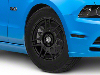 Forgestar F14 Drag Edition Matte Black Wheel - 17x7 (10-14 All; Excludes 13-14 GT500)