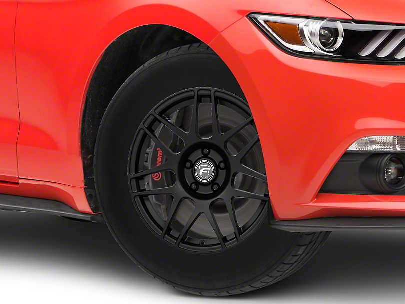 Forgestar F14 Drag Edition Matte Black Wheel - 17x7 (15-18 All)