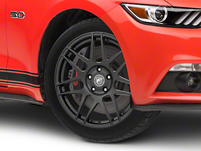 Forgestar F14 Drag Edition Matte Black Wheel - 18x5 (15-19 GT, EcoBoost, V6)