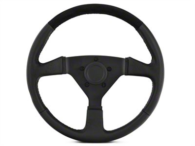 MMD 13.5 in. Leather & Suede Performance Steering Wheel - Black (84-14 All)