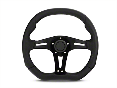 MMD 13.5 in. x 11.75 Flat Bottom Performance Steering Wheel w/ Quick Disconnect Kit - Black (84-04 All)