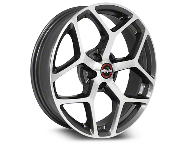 Race Star 95 Recluse Metalic Gray w/ Machined Face Wheel - 17x10.5 - Rear Only (15-19 GT, EcoBoost, V6)