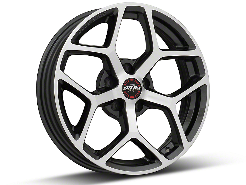 Race Star 95 Recluse Metalic Gray w/ Machined Face Wheel - 17x4.5 (05-17 All)